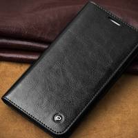 2015 QIALINO Wallet Style For Samsung Galaxy E7 Genuine Leather Case Top Grade Flip Cover With
