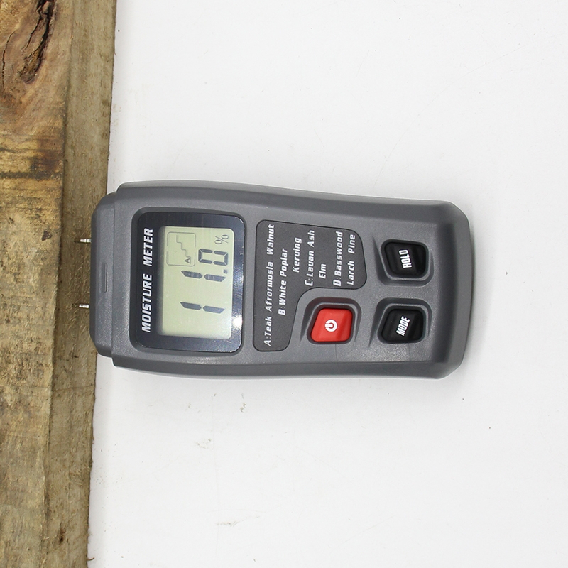 EMT01 0-99.9% Two Pins Digital Wood Moisture Meter Wood Humidity Tester Hygrometer Timber Damp Detector Large LCD Display mastech ms6900 portable digital timber wood moisture meter lcd hygrometer temperature meter humidity meter tester