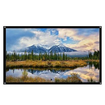 60 72 84 100 120 polegada Tela 4:3 Projeção Projetor Pendurado Cortina de tela para HD 3D LED Projetores de Home Theater Filme Inteligente