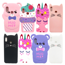 Cute 3D Cartoon Silicon Case For Xiaomi Redmi Note 6 Pro Cases Ice Cream Cupcake Minnie Mouse Unicorn Cat Phone Cover Note6 6Pro