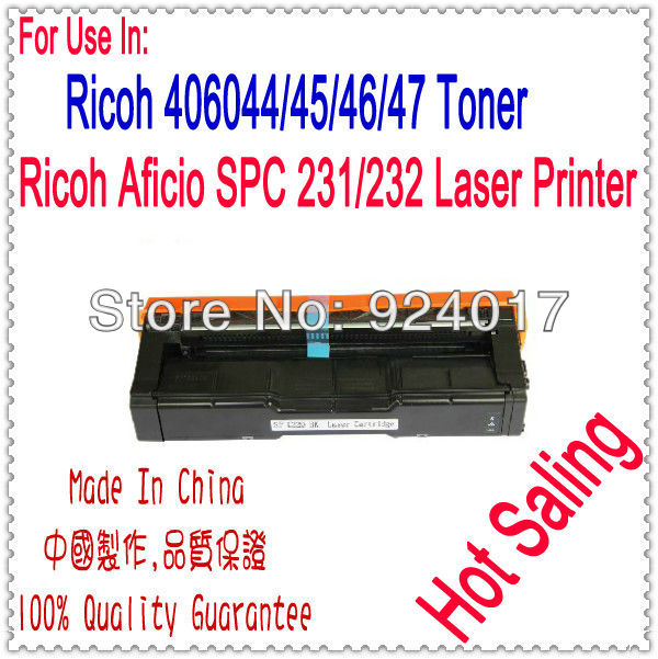 For Ricoh SP C231 C232 Toner,Refill Toner For Ricoh Aficio SPC 231 232 Color Laser Printer,For Ricoh Toner 406044/45/46/47 Toner powder for ricoh ipsio c 242sf for ricoh sp c 231 n for ricoh aficio sp c232 dn office parts printer cartridge digital copier