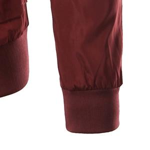 Image 4 - Yeni şarap kırmızı ceket erkekler bombacı Veste Homme2016 bahar sonbahar moda erkek Slim Fit fermuar bombardıman Varsity beyzbol ceketleri 4Xl