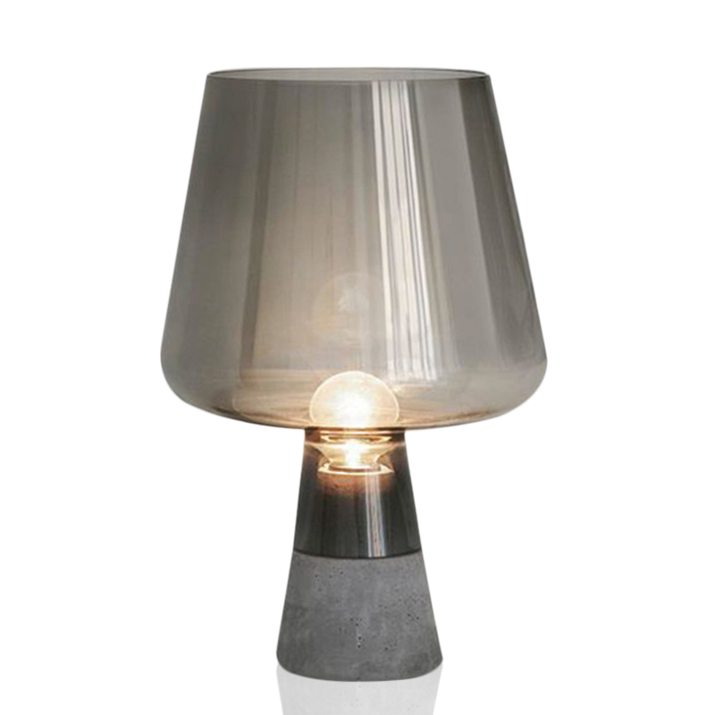 American Countryside Creative Nordic Cement Desk Lamp Pastoral Bedroom Bedside Corridor Glass Decoration Table Lamps