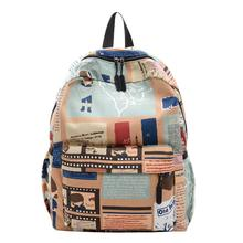 Fashion Printing Travel Backpack Women Men Large Capacity School Bag Casual Nylon Backpack Preppy Style Satchel Rucksack mochila freein printing backpack women men bag 2018 waterproof polyester college haraju casual preppy style large capacity knapsack
