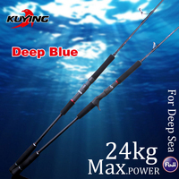 KUYING DEEP BLUE 1 Section Lure Fishing Jigging Rod 1.56m 1.68m Casting Spinning FUJI Parts Carbon Fiber Rods Cane For Deep Sea
