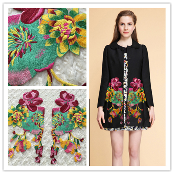 2019 New Style Exquisite Three-dimensional Flower Embroidery Cloth Gauze Embroidery Accessories Peony High-end Clothing Embroidery Accessories Home & Garden