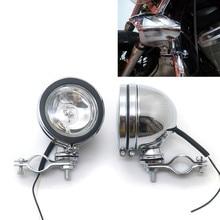 ZORBYZ мотоциклетный хромированный ретро-светильник для вождения, проходящего по свету, противотуманный светильник с рулонной клеткой