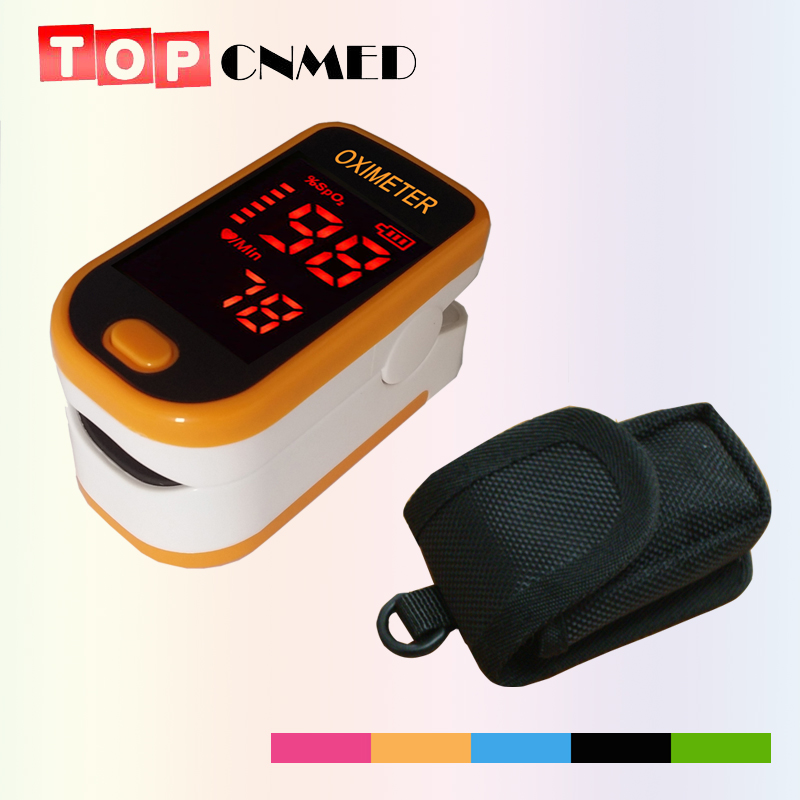 WITH POUCH CE ISO Blood Oxygen Monitor Heartbeat Monitor Pulse Oximeter Aliexpress Standard Shipping