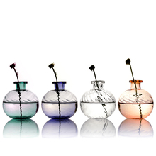 Colorful Glass Vase Hydroponic Glass Vases For Dried Flower Home Decor