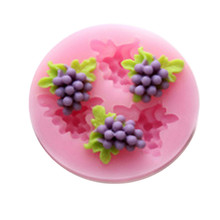 Silicone DIY 3D Grape Mold Fondant Chocolate Cake Decorating Mold Silicone Baking Tools diy 3d beatiulty flower silicone fondant mold sugar craft cake decorating embossing mold bakery baking tools