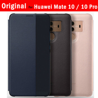 Official Original For Huawei Mate 10 10 Pro Flip Case Cover Smart View PU Leather Funda