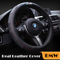 Leather Car Steering Wheel Covers M Sport Black for BMW X1 X3 X5 X6 X Series F10 F30 E36 E39 E46 E30 E60 E88 E90 E89 Car Styling
