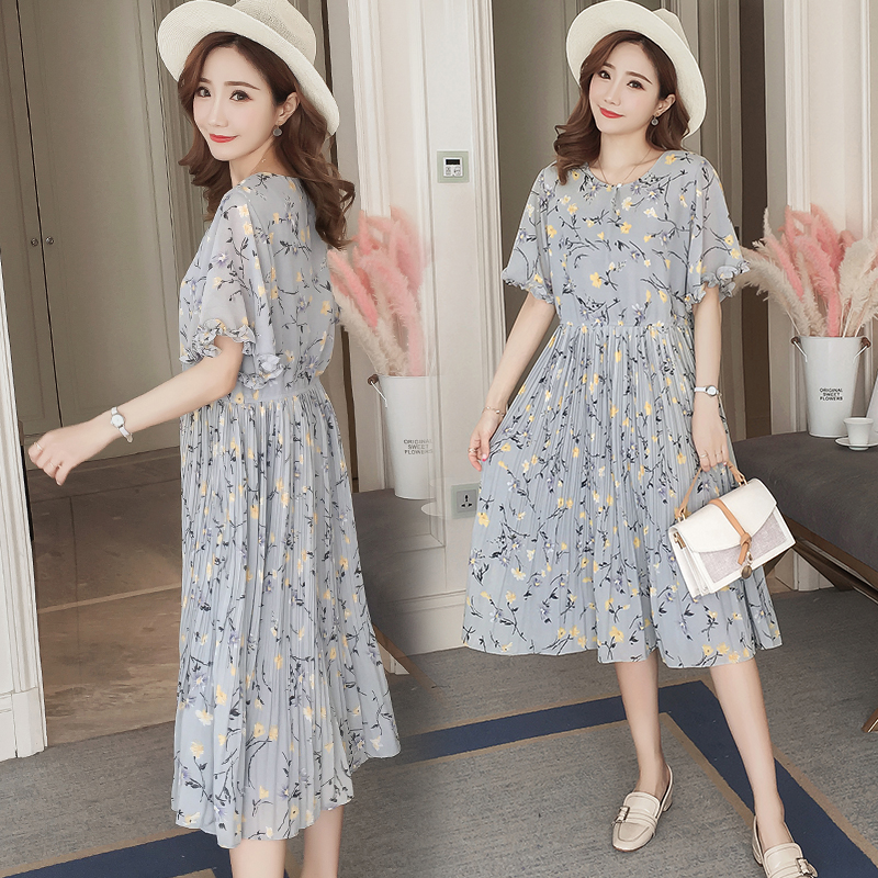 Floral Maternity Clothes Formal Pregnancy Dress Summer Cotton Flower Print Maternity Clothing Of Pregnant Women Vestidos