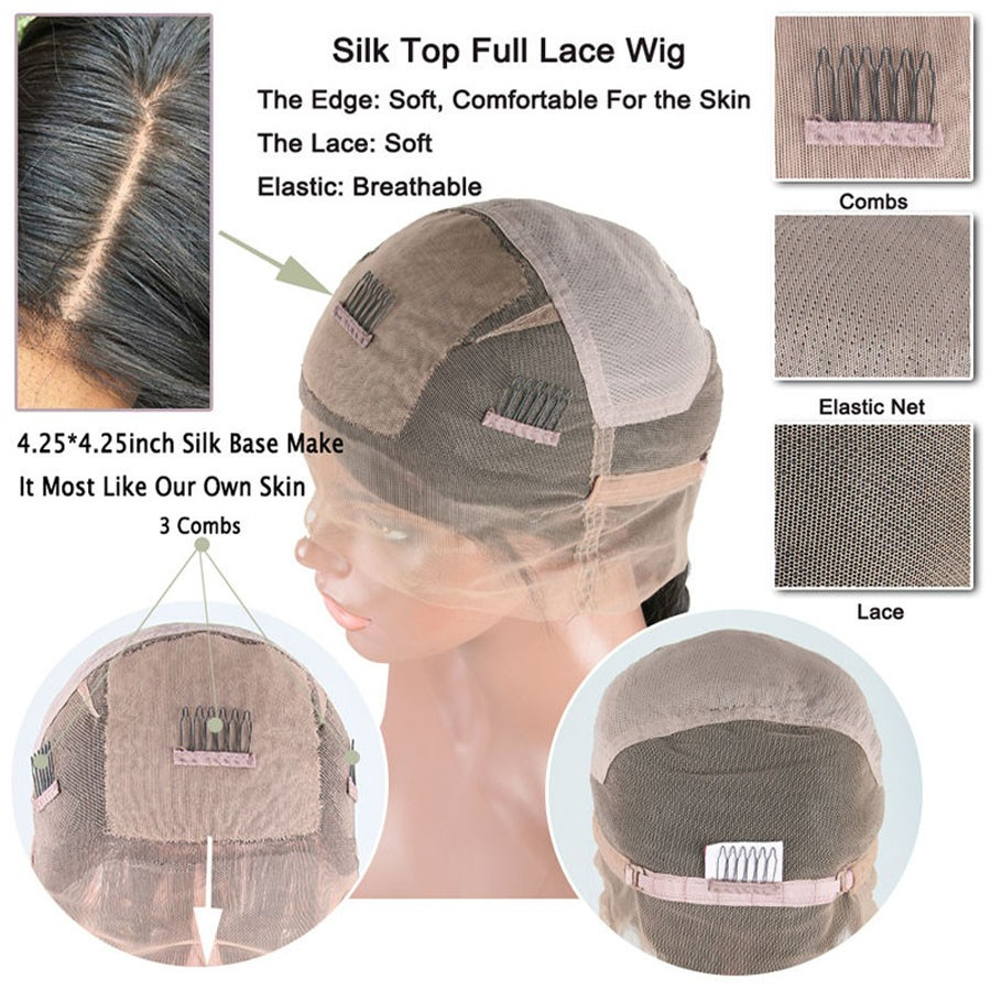 silk top full lace wig cap 1