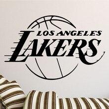 Home Decor Living Room Boy Bedroom Wall Sticker Basketball Team Los Angeles Lakers LA Design LQ10