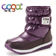 Good Quality 2017 New Children Waterproof Snow Boots Winter Boy Girl Child Kids Snow Booties Fur Linning Boys Girls size26-38