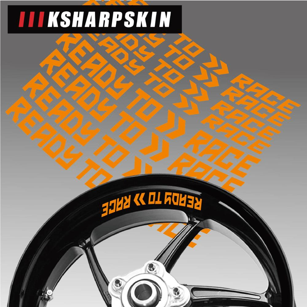 Motorcycle Styling Wheel Tire Logo Creative Rim Inner Side Decals Decorative Sticker Suitable For KTM READY TO RACE Sticker