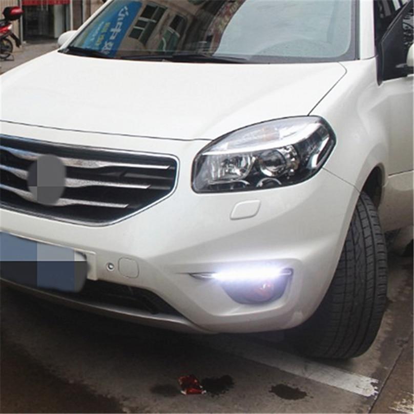 Car Flashing 1set For Renault koleos 2011 2012 2013 2014 LED DRL Daytime Running Light Daylight