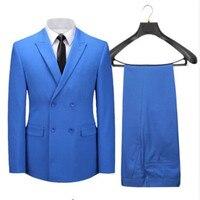 カスタマイズメイド卸売男性スーツスリムフィット高級フォーマル勒ビジネススーツメンズスリムフィットの結婚式のスーツパンツ(ジャケット+パンツ)