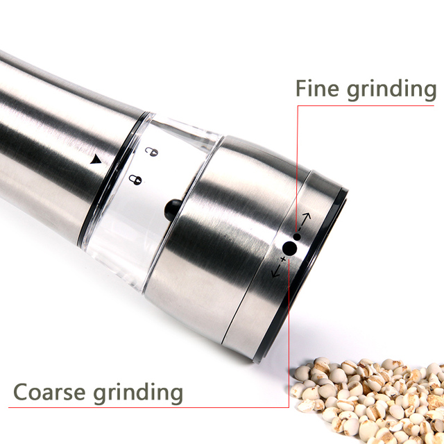 Set of 2 premium stainless steel salt and pepper grinder