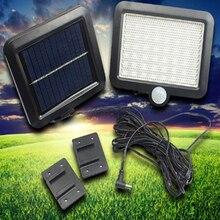 цена на Outdoor LED Solar Light 56 LED Outdoor Solar Wall Light PIR Motion Sensor Solar Lamp Waterproof Infrared Sensor Garden Light