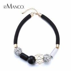 Emanco statement necklace fashion jewelry minimalist ethnic chokers necklaces women black white wood beads choker 2017.jpg 250x250