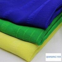 Hot Sale 3meter A Lot Fashionable Green Beauty Stripe Jacquard Chiffon Fabric