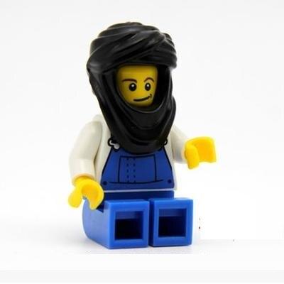 1pcs Arabian headscarf city gun swat police military model building kits Bricks Blocks original mini figures Toys