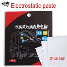 Araba Pencere Statik Sticker Yıllık Denetim Işareti Etiket Araba Aksesuarları Araba dekorasyon çıkartması Için Tesla Modeli 3 Ford Focus Için