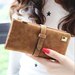 2017 brand lady bags women wallets purse matte drawstring nubuck handbags leather zipper wallet long two.jpg 250x250