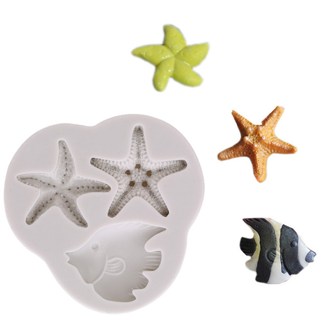 Cake Decoration Tools Diy Sea Creatures Conch Starfish Shell Fondant