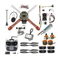 Full Set DIY Drone For beginner HJ 450 Frame PX4 Flight Control 920KV Motor GPS AT9S Transmitter 1045 Props Gimbal