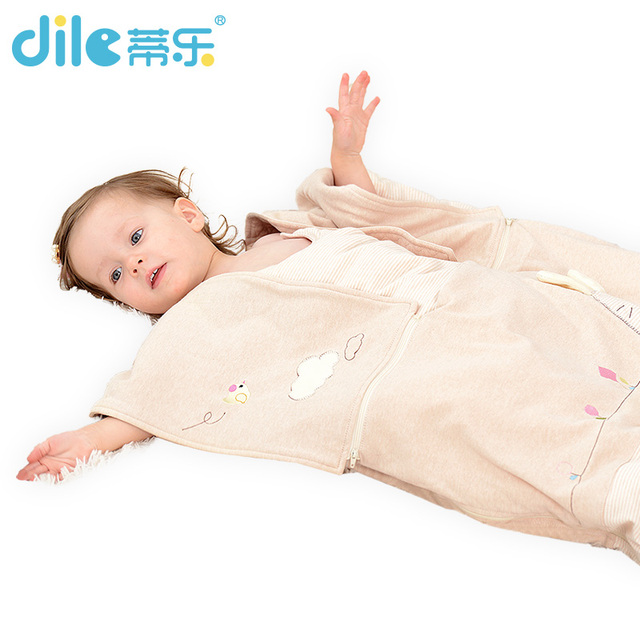 Dile Baby Sleeping Bag Soft Cotton Autumn Child Sleep Suit soft Baby Sleepsacks Dogs Clothes Autumn Winter