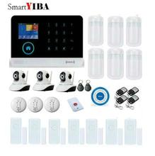 SmartYIBA WIFI Home Security Alarm System GSM Alarmes IP Camera Smoke Fire Alarm Kits Door Window