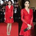 Red Carpet Long Sleeve Short 2016 Celebrity Dresses Vestido Verde Keira