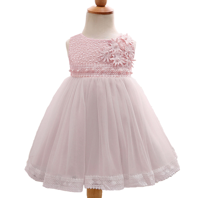 Aliexpress.com : Buy Infant Party Dress White Lace Flower Girl ...