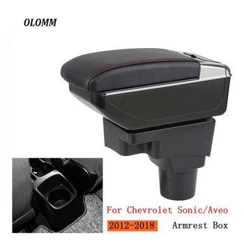 Podłokietnik dla Chevrolet Sonic Aveo Lova T250 T300 centralny zawartość sklepu pudełko do przechowywania z uchwytem na kubek popielniczka akcesoria samochodowe