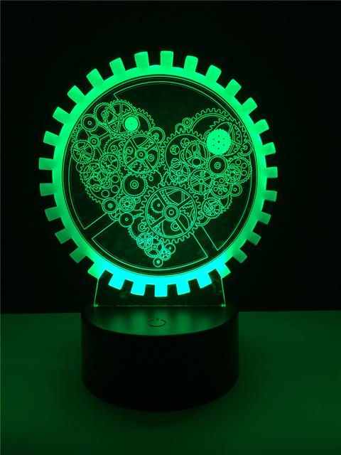 3D LED Hologram – Nočné svetlo – Gear Love