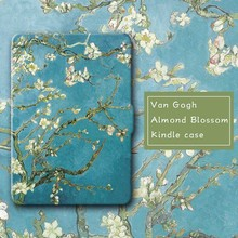 Kandouren-Van Gogh Almond Bloom, Caso Cubierta de piel para Amazon Kindle Paperwhite, kindle Kindle voyage y básica 2016