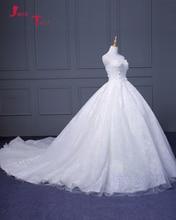 Jark Tozr 2017 New Special Chapel Train Gorgeous Wedding Dresses Vestido De Casamento Appliques Lace Pearls Bridal Gowns Turkey
