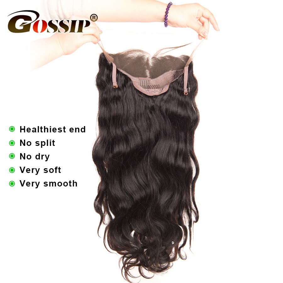 Wig Body Wang Dantel Leshi Parukë Paruke të Veshura Parafjalë - Flokët e njeriut (të zeza) - Foto 4