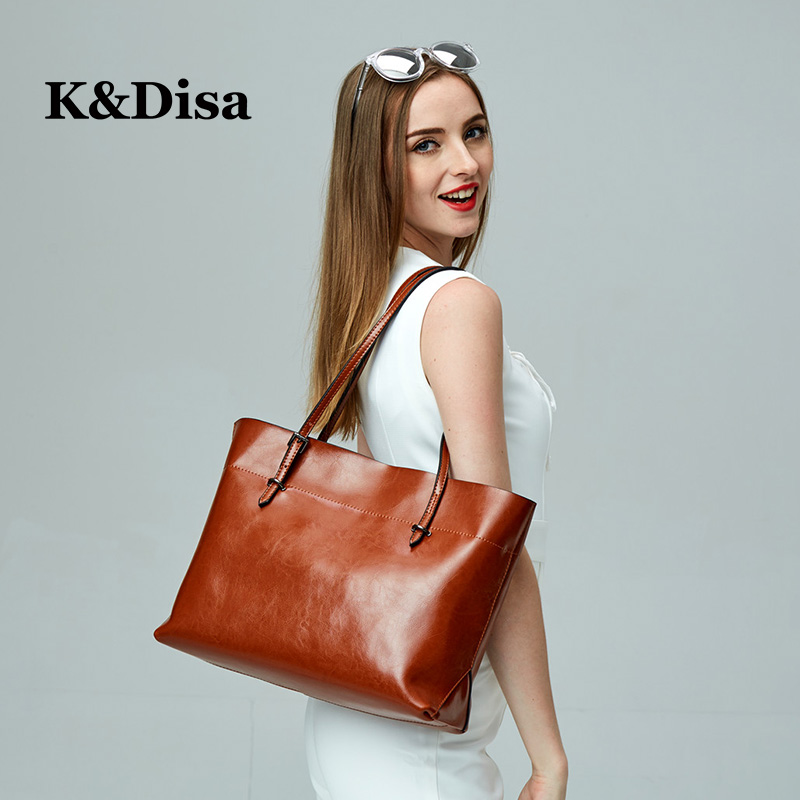 2018 Women Hand Bags Luxury Fashion Genuine Leather Ladies Shoulder Bag Versatile Solid Large Capacity Casual Womens Handbags