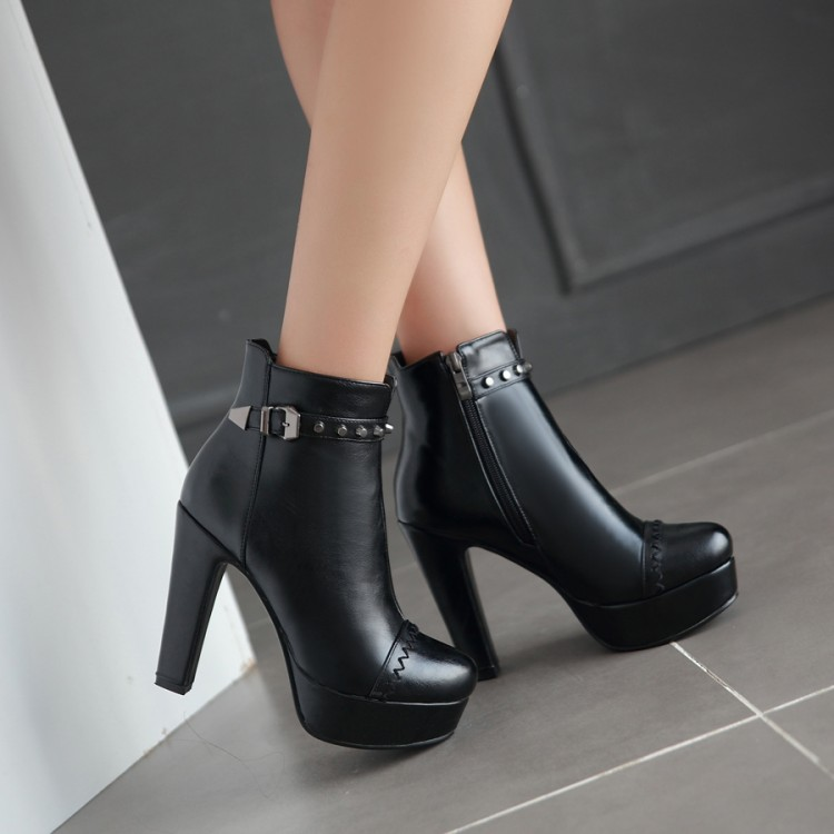 Image 2 - Winter  style thigh high women woman femininas ankle boots botas masculina zapatos botines mujer chaussure femme shoes 603 2style bootsankle bootszapatos botines -