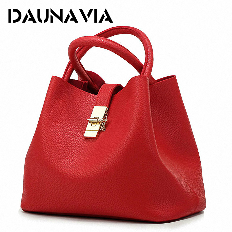DAUNAVIA- 2018 Vintage Women's Handbags Famous Fashion Brand Candy Shoulder Bags Ladies Totes Simple Trapeze Women Messenger Bag