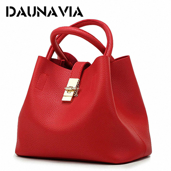 DAUNAVIA- 2019 Vintage Women's Handbags Famous Fashion Brand Candy Shoulder Bags Ladies Totes Simple Trapeze Women Messenger Bag
