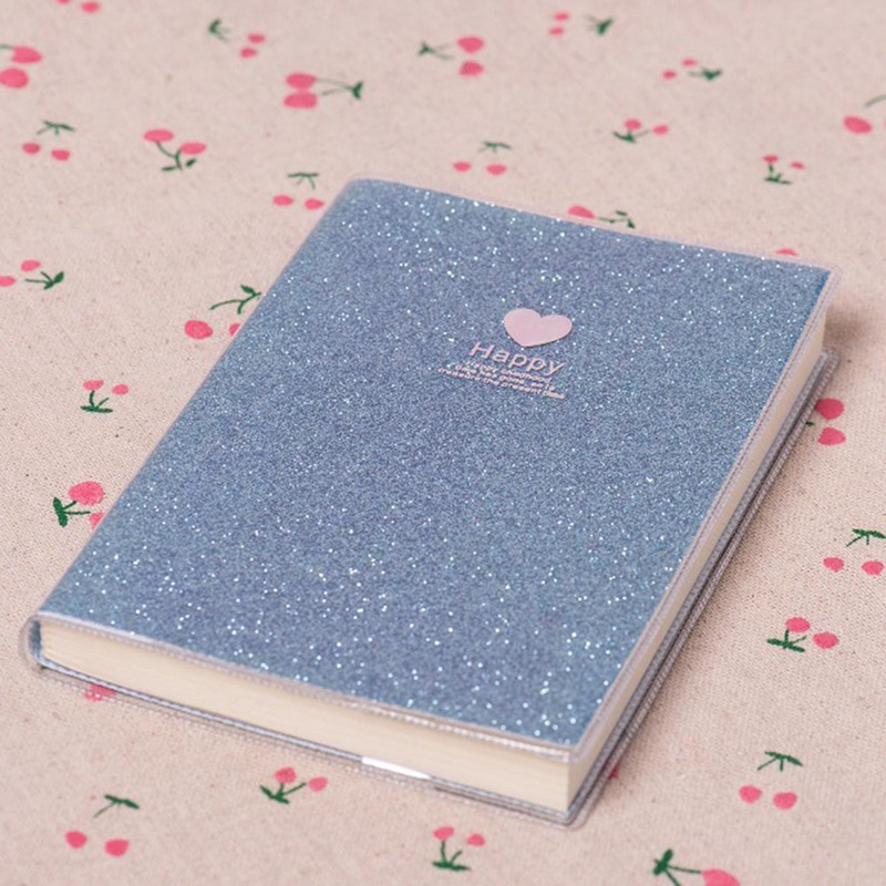 Creative 68sheets Love PVC Notebook Paper Diary School Shiny Cool Kawaii Notebook Paper Agenda Schedule Planner Sketchbook Gift