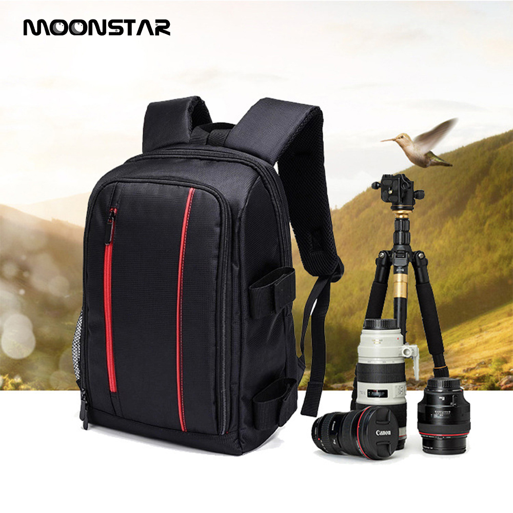 Photo Camera Shoulder Backpack Pad Bags Shockproof Case Waterproof Traveling backpack with Rain Cover Video Tripod Bag for Canon