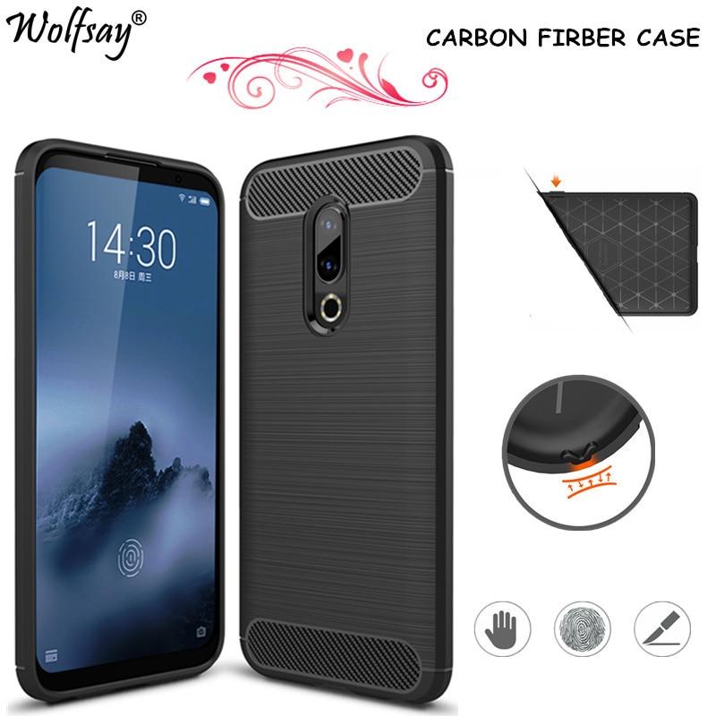 Carbon Fiber Phone Case For Meizu 16th Case Snapdragon 845 TPU Silicone Armor Cover For Meizu 16th Case For Meizu 16 16th 6.0