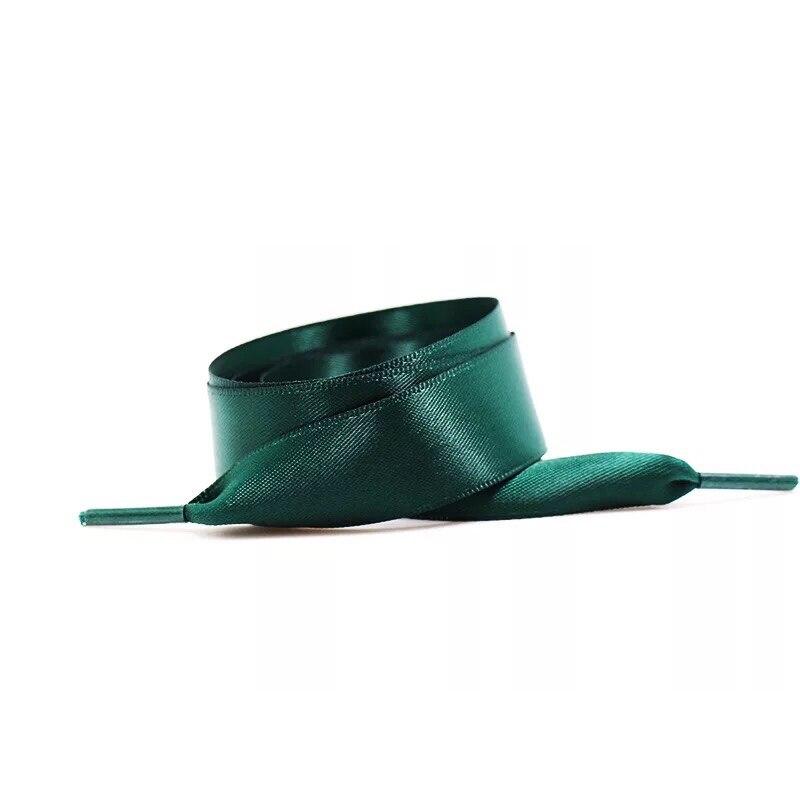 1Pair 2CM Width Satin Silk Ribbon Shoelaces Kids Adult Flat Nylon Shoe Laces 80 100 120CM Length Sneakers Shoes Laces S1 in Shoelaces from Shoes