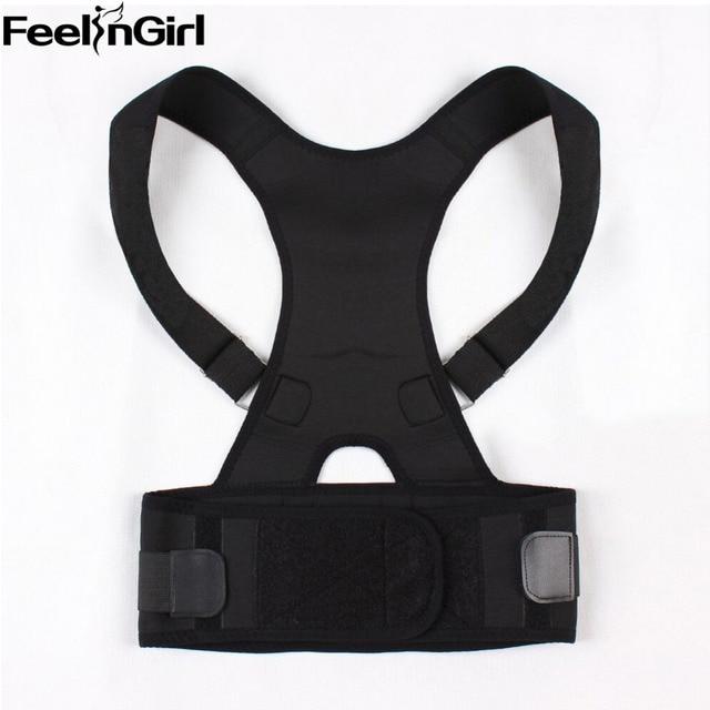 FeelinGirl 2016 Mais Novo Bandage Cintura Cincher do Shaper Do Corpo Do Emagrecimento Trainer Colete Com Apoio Corrector de Volta para As Mulheres/Homens-E